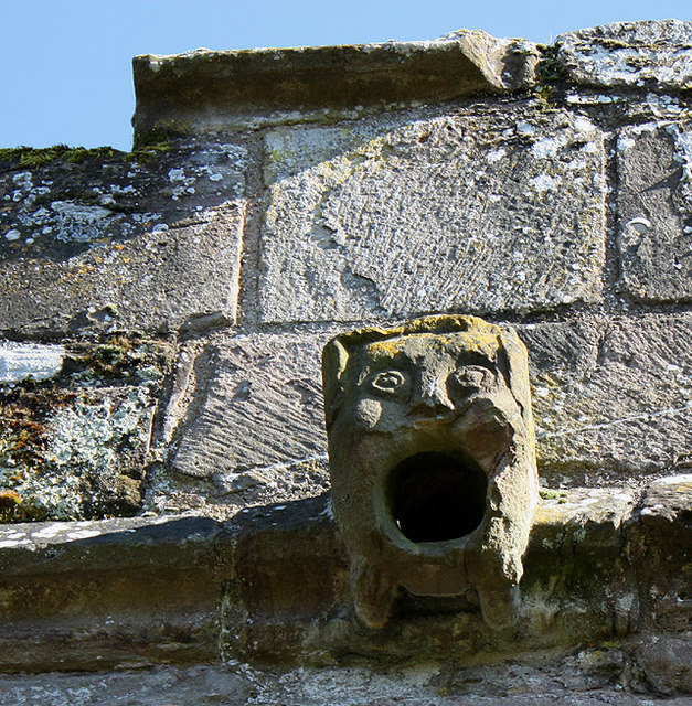 Ludlow Castle gargoyle, via Wikimedia Commons