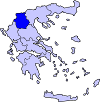 Location of West Macedonia Periphery in Greece