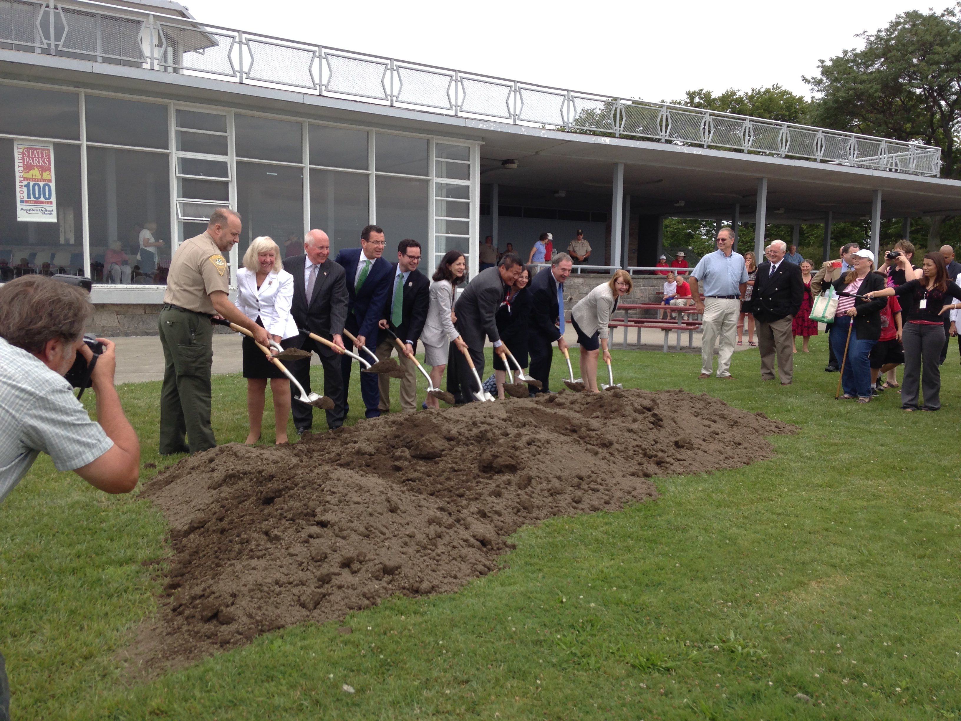 Groundbreaking for Renovation of Sherwood Island State Park Pavilion (14483790279).jpg Wednesday, July 16, 2014 -- Governor Dannel P. Malloy