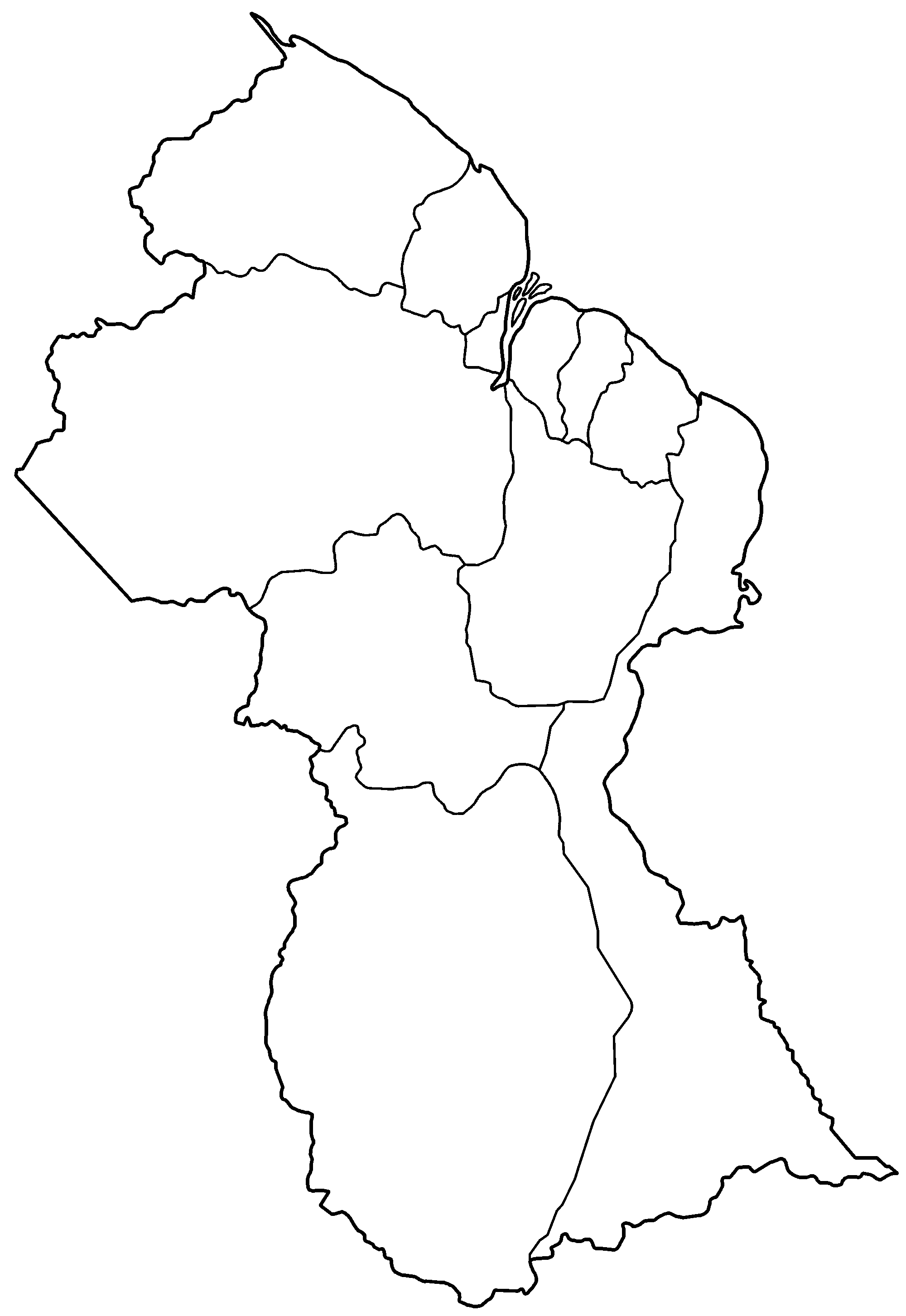 FileGuyana regions blankpng Wikimedia Commons