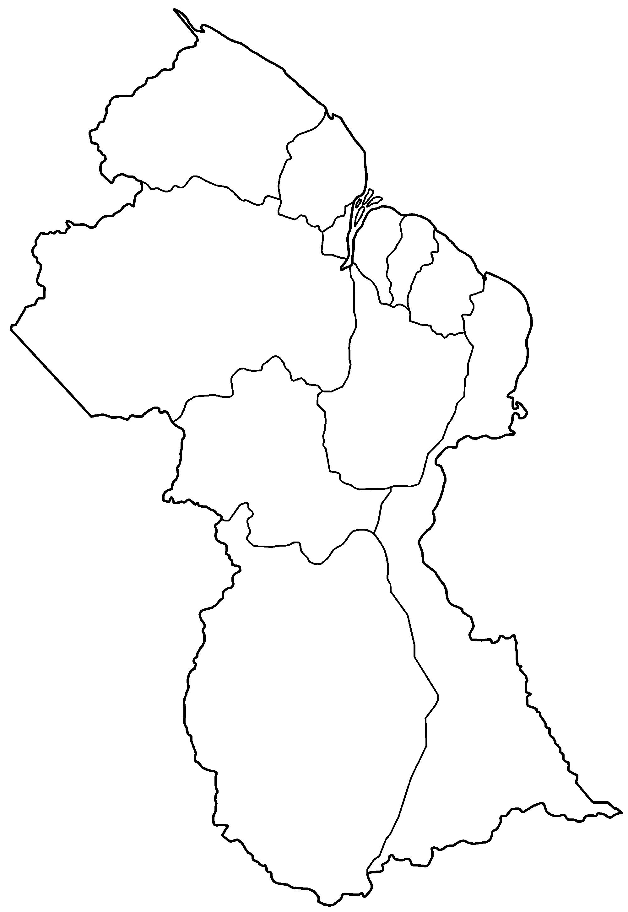 File Guyana Regions Blank Png Wikipedia