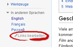 Interlanguage links provided by WikiData-de-edit