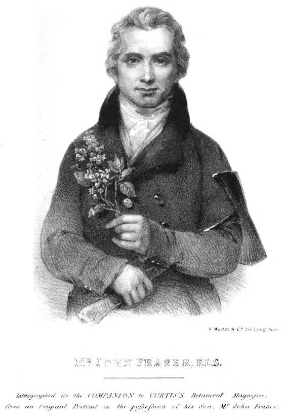 John Fraser, lithograph of an 18th-century portrait
