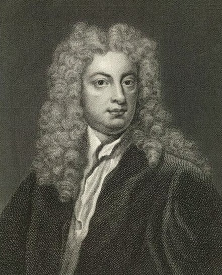Joseph Addison: engraving after the Kneller portrait