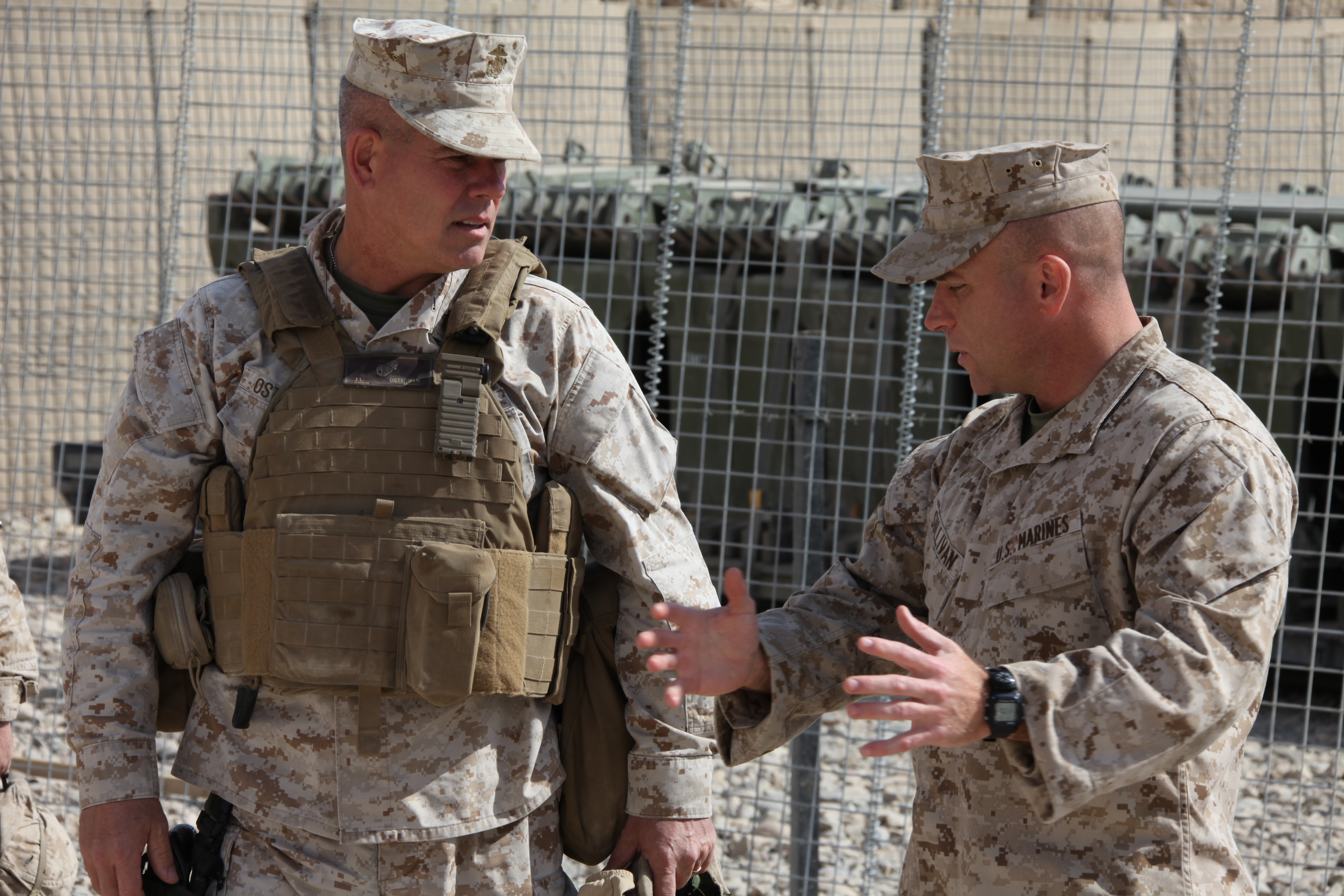 USMC Brigadier General wearing a Scalable Plate Carrier in Afghanistan in 2011.