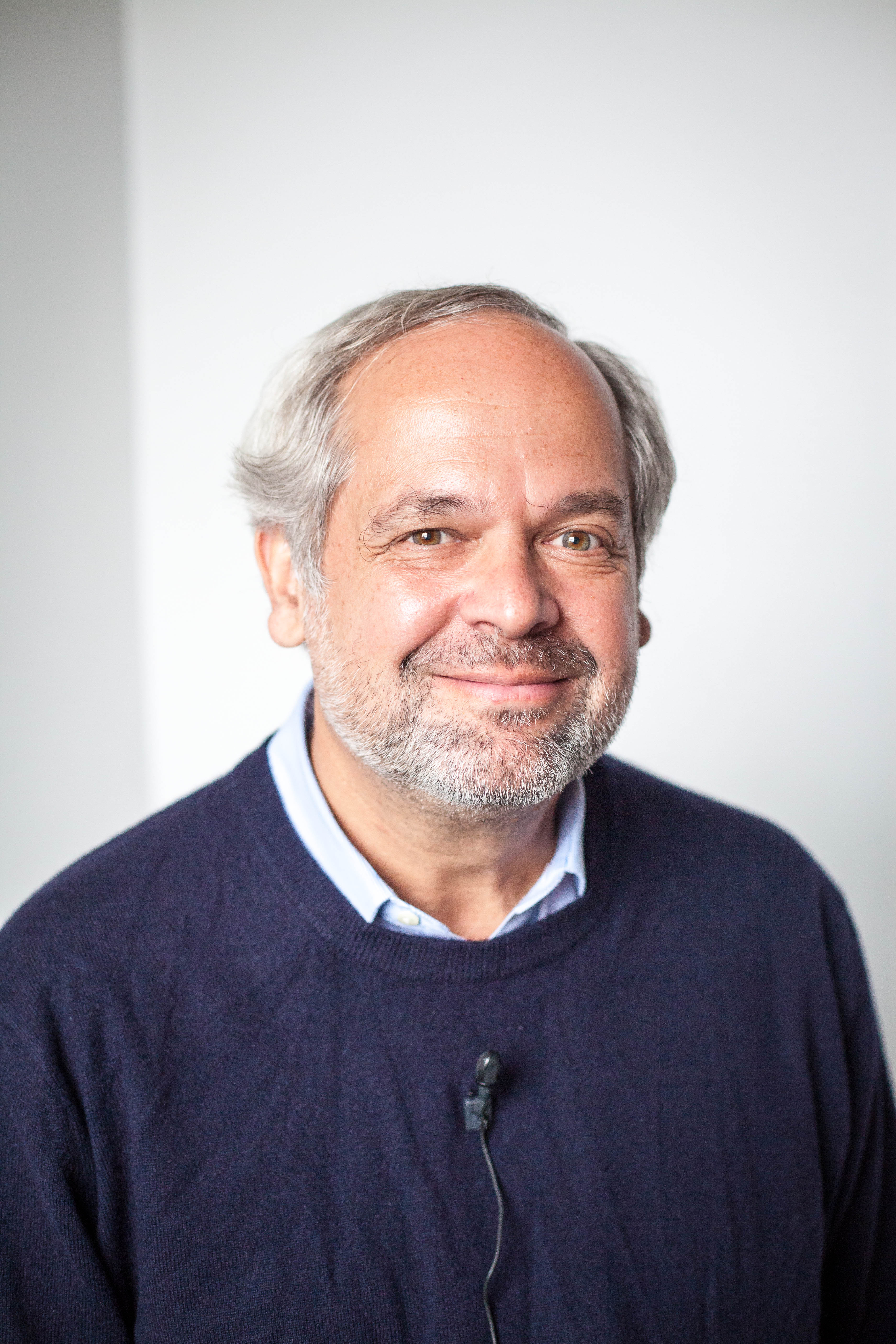 Portrait of Juan Enríquez Cabot at PopTech 2012