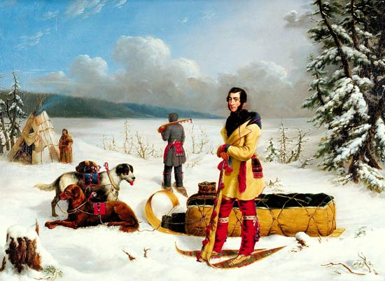 Paul Kane Painting, Scene in the Northwest