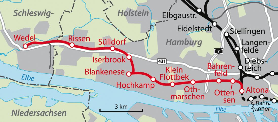wedel hamburg karte Altona–Blankenese railway   Wikipedia