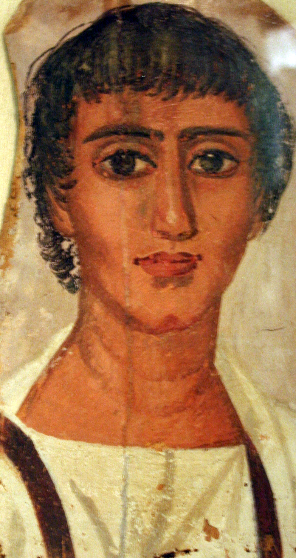 Mummy portrait from Fayyum, 2nd half of the 2nd Century BC; Kestner Museum, Hannover