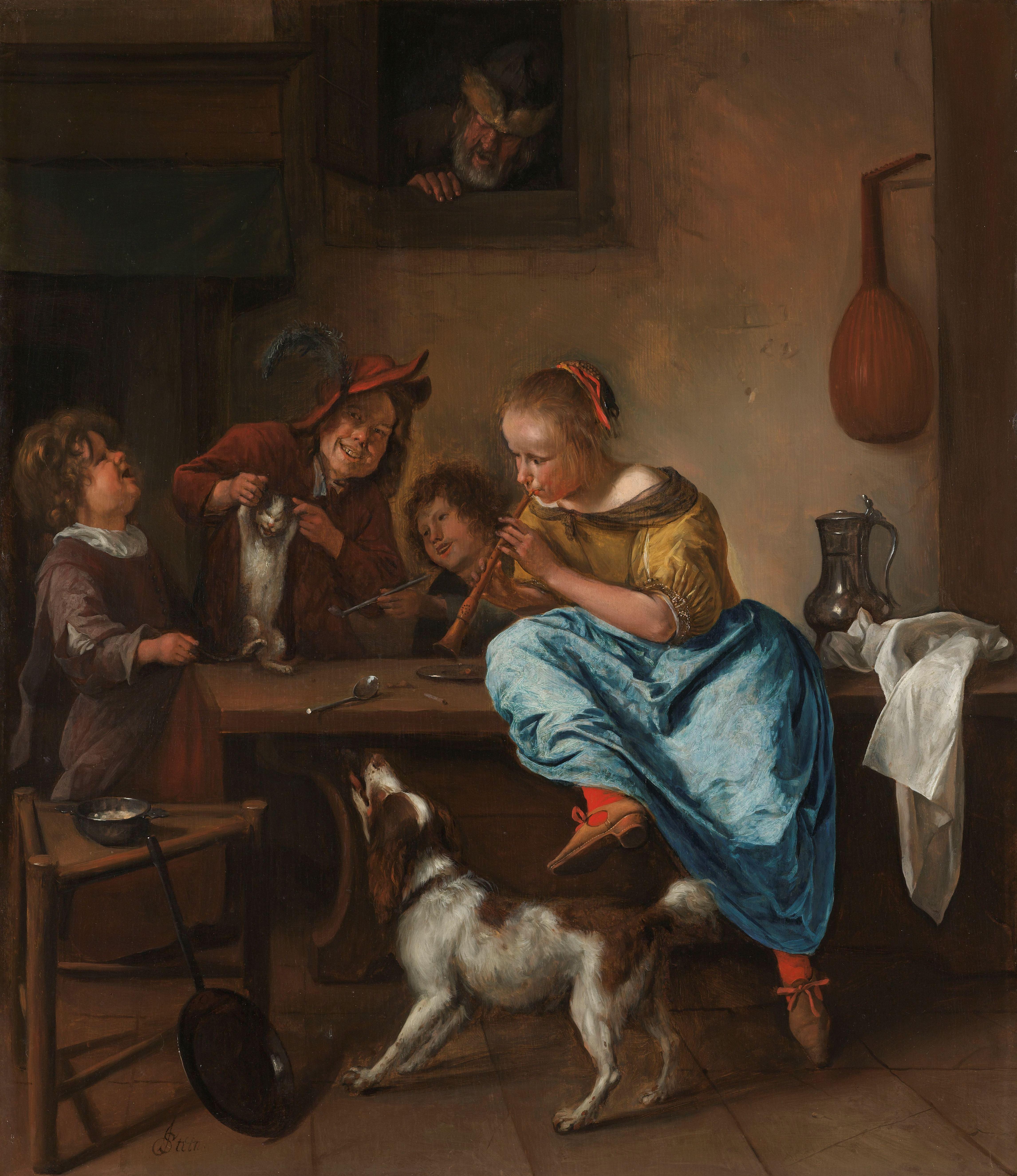 Bestand kinderen leren een poes dansen bekend als de dansles rijksmuseum sk a - Kinder schilderij ...