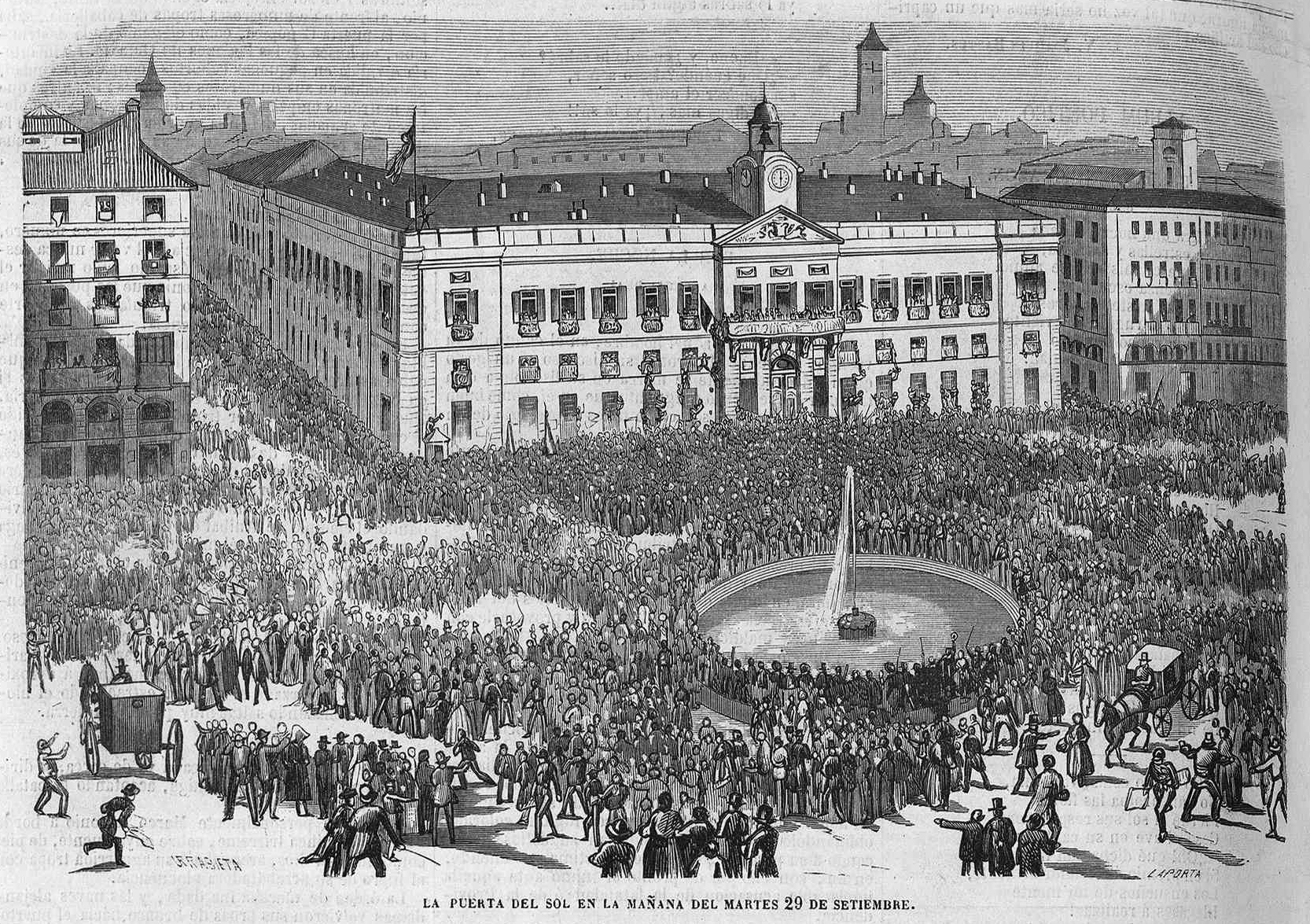 File:La Puerta del Sol en la mañana del 29 de septiembre de 1868,