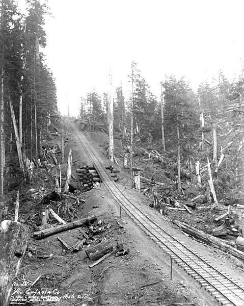 File:Logging railroad tracks and log trestle, The Eufaula Company, ca 1921 (KINSEY 97).jpeg