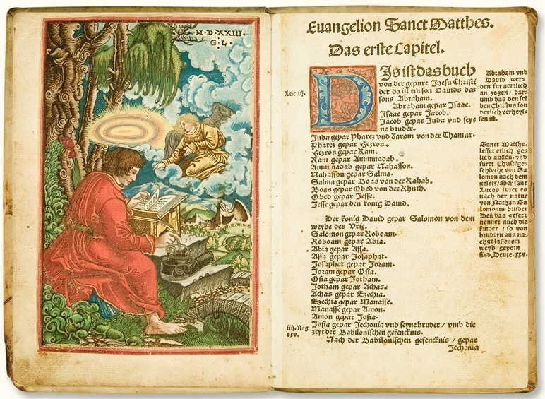 Luther bible double page