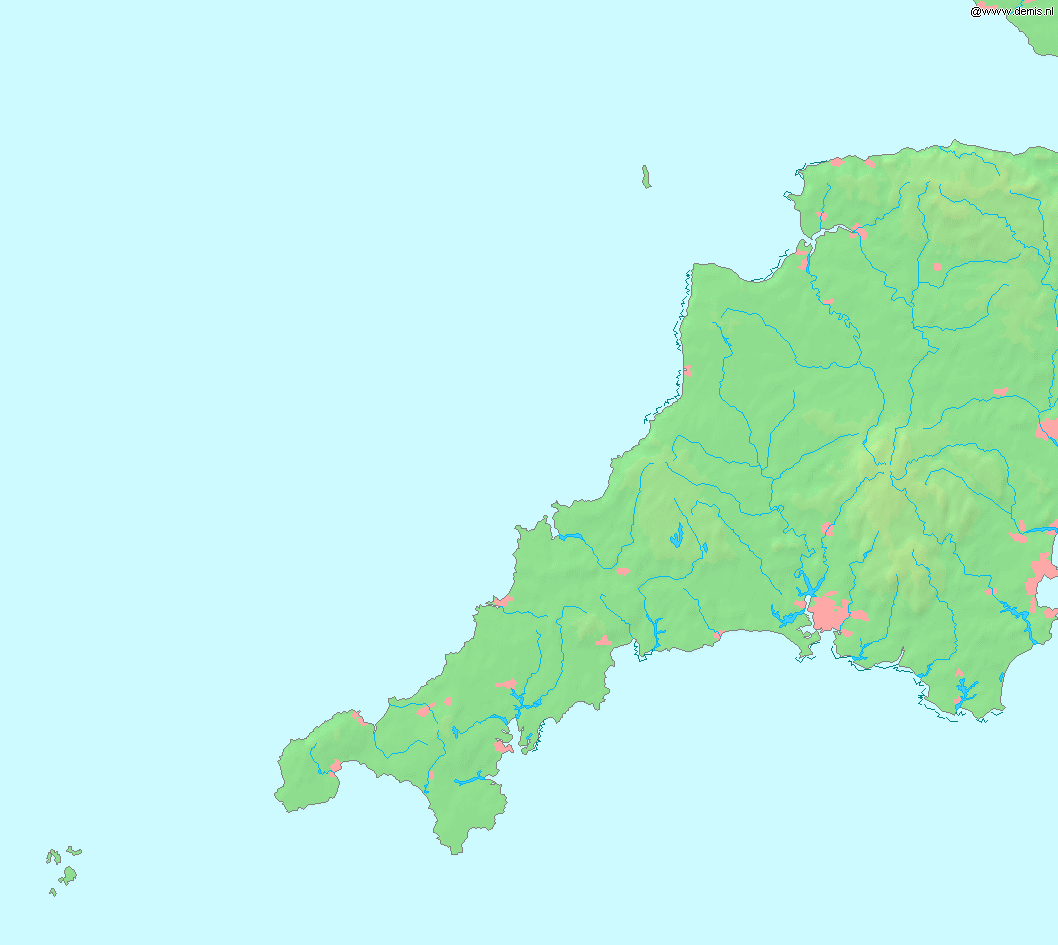 File Map Of Cornwall