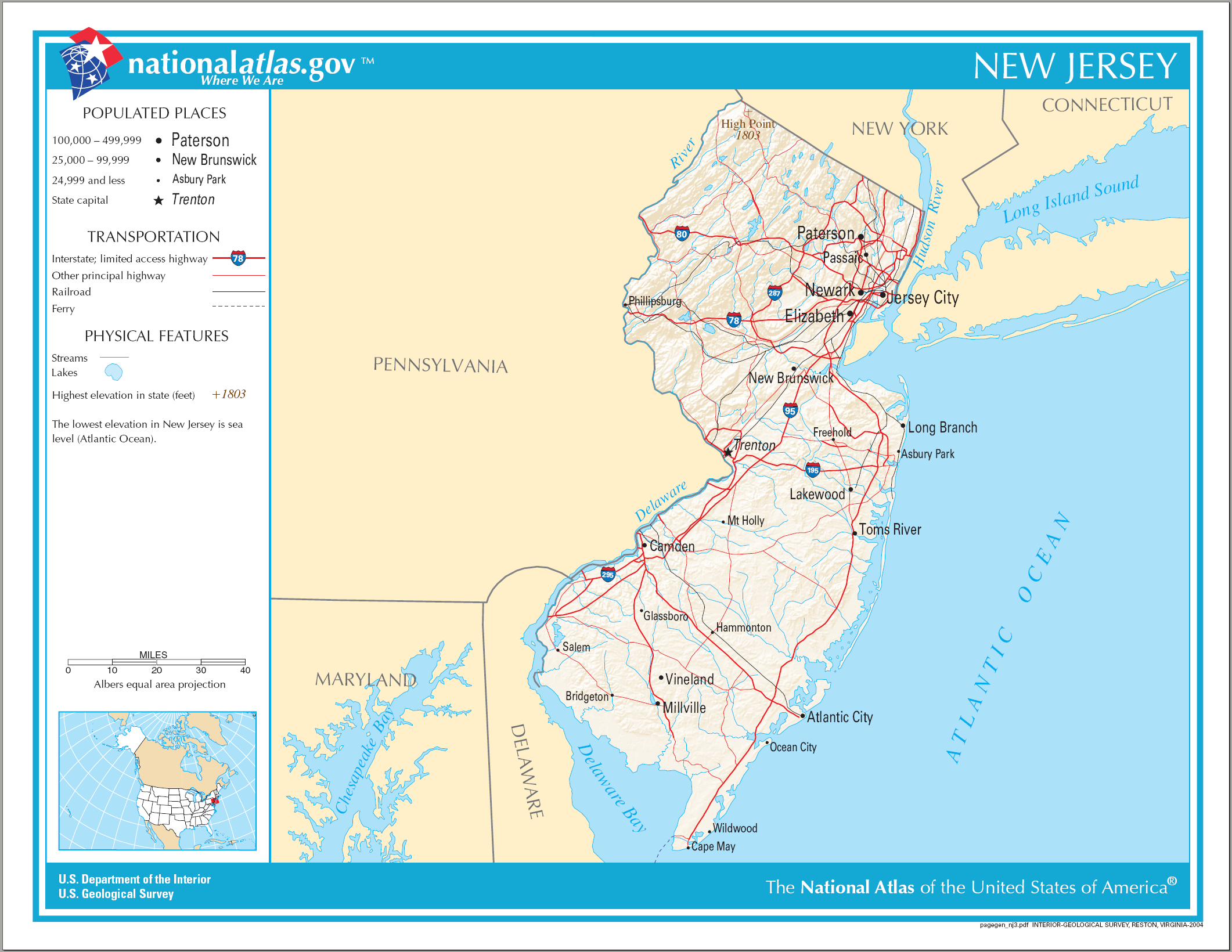 Delaware City Map Usa
