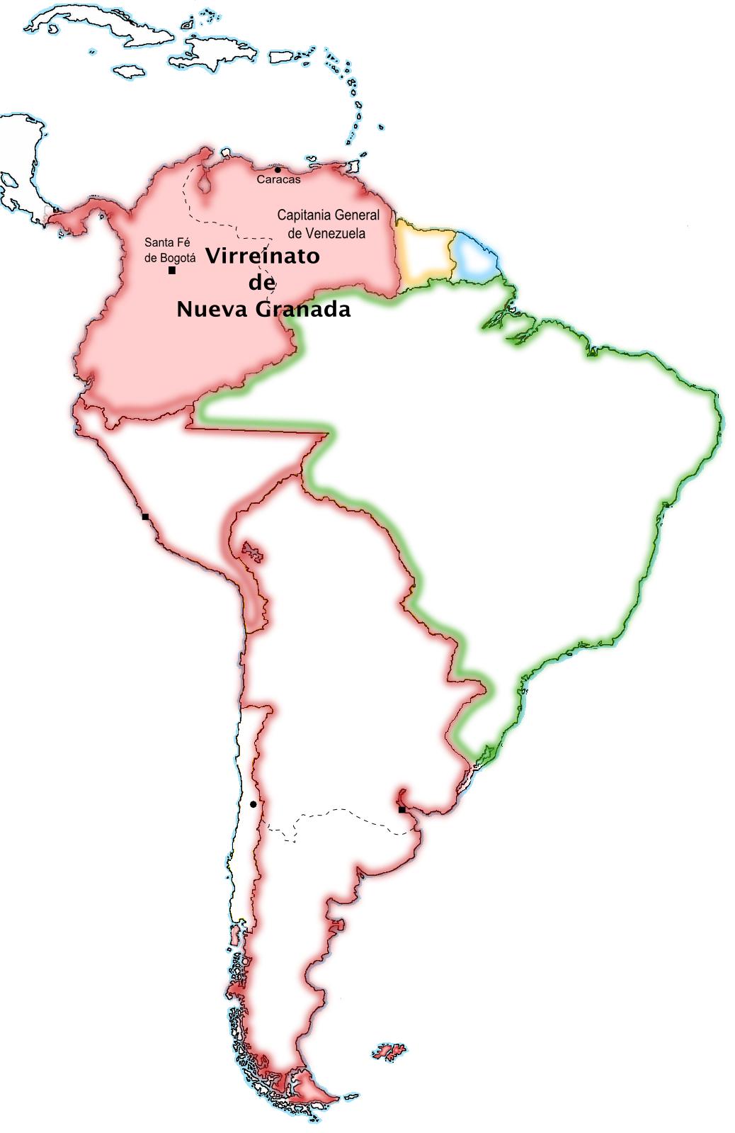 Mapa De La Nueva Granada