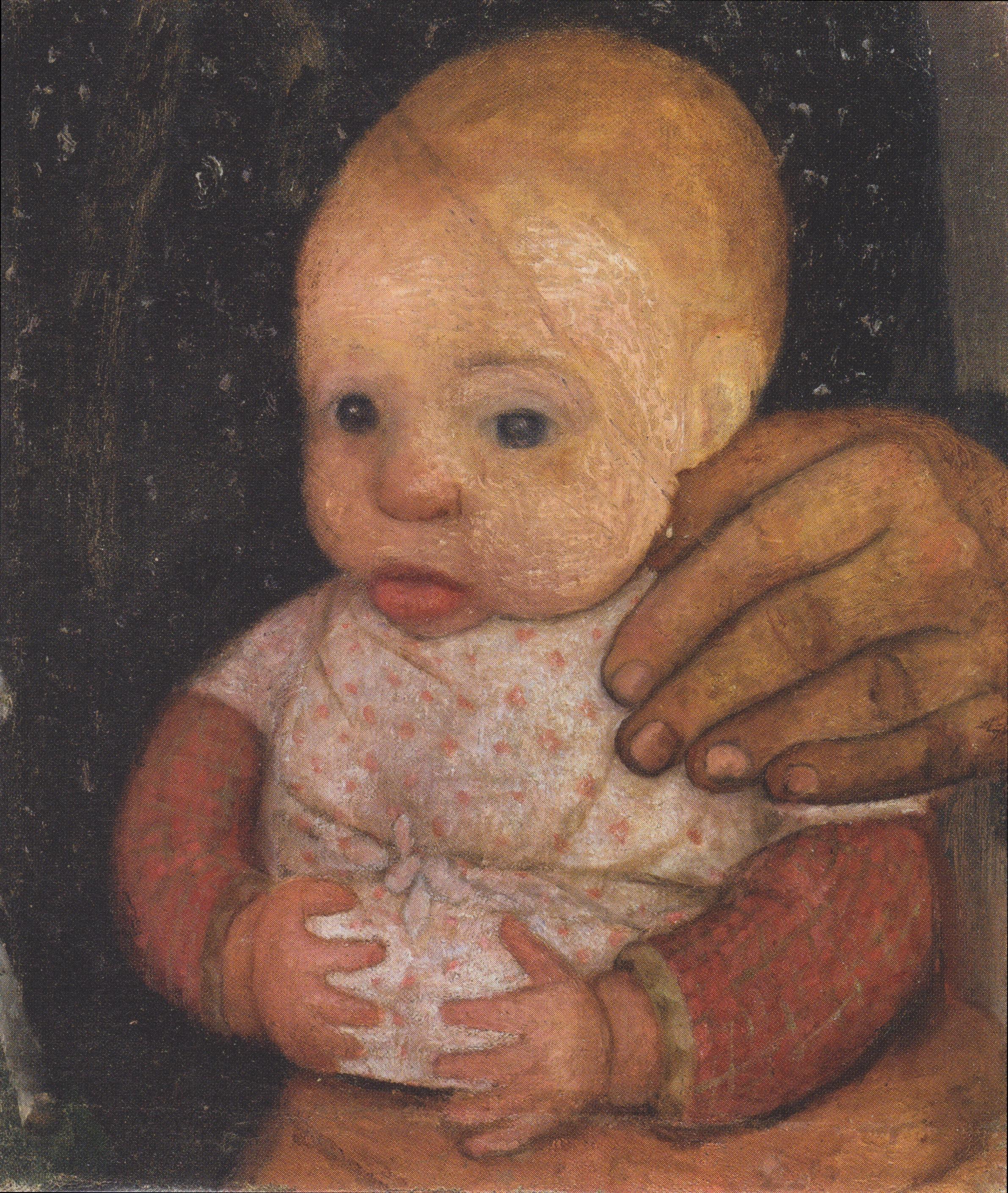 File Modersohn Becker Säugling Mit Der Hand Der Mutter Ca1903