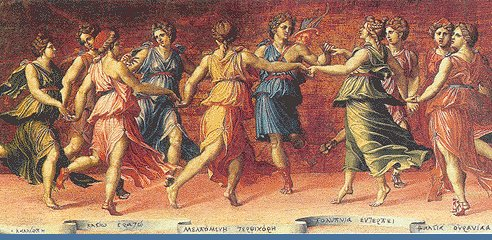 Dance of Apollo with the Nine Muses