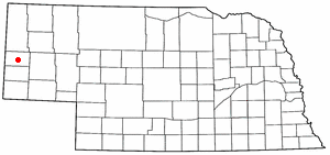 Location of Gering, Nebraska