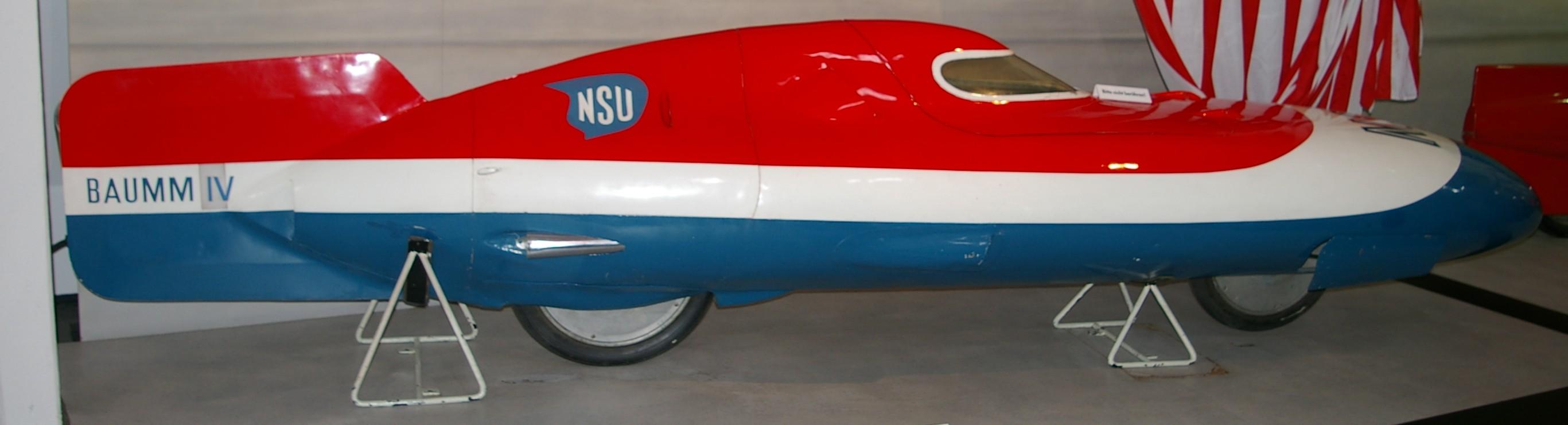 NSU u201eBaumm IVu201c Rekord-Fahrzeug von 1954 im Zweirad-Museum Neckarsulm