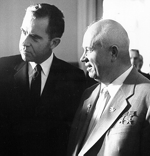 English: Vice President Richard M. Nixon and S...