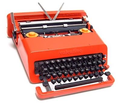 olivetti valentine skrivmaskin
