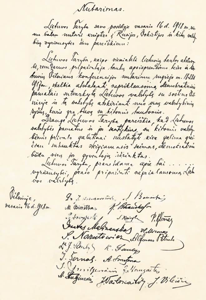 act of independence of lithuania wikipedia