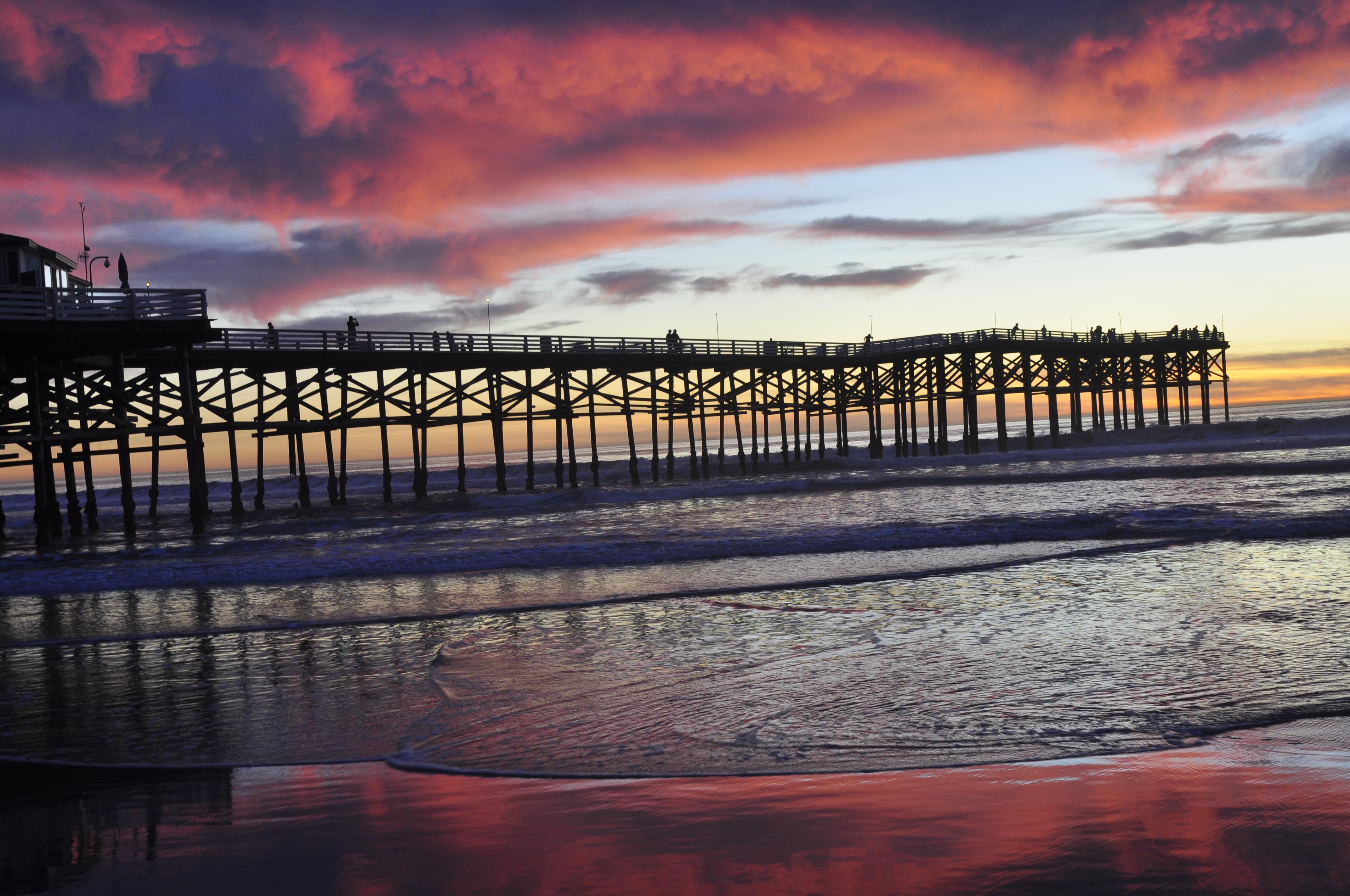 File Pacific Beach Crystal Pier Sunset 01 Jpg Wikimedia