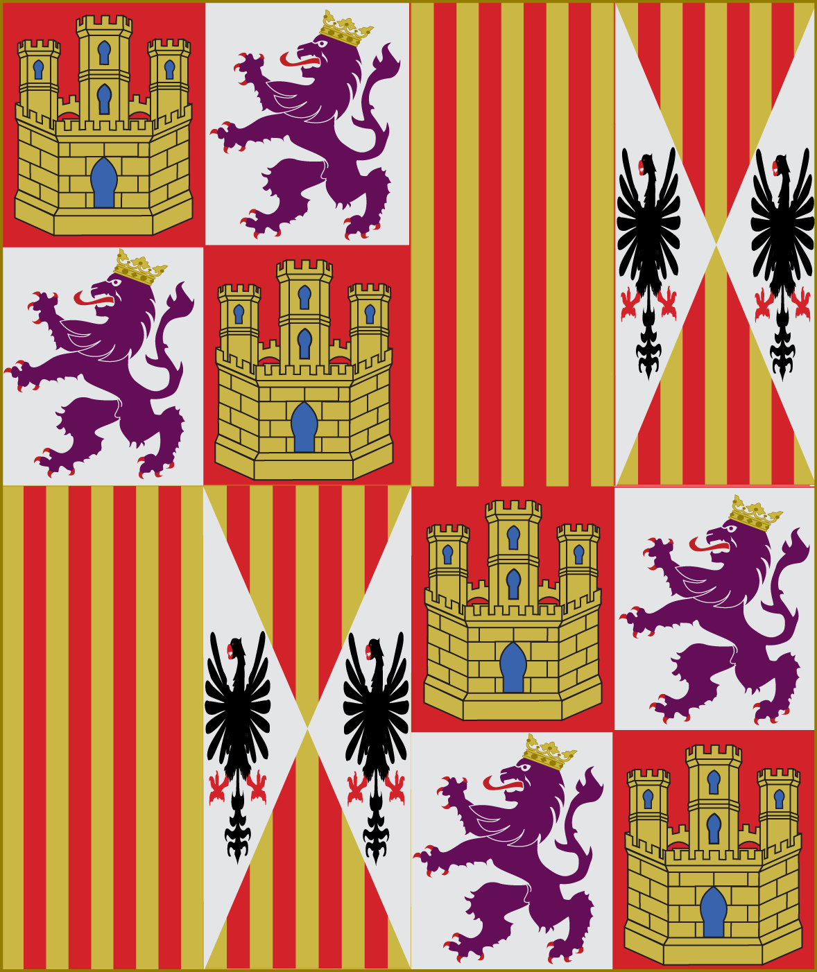 AAR Imperio Español - Fin del EU3 - D&T 10.5 Pendon_de_los_Reyes_Catolicos