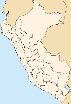Map showing location in Peru