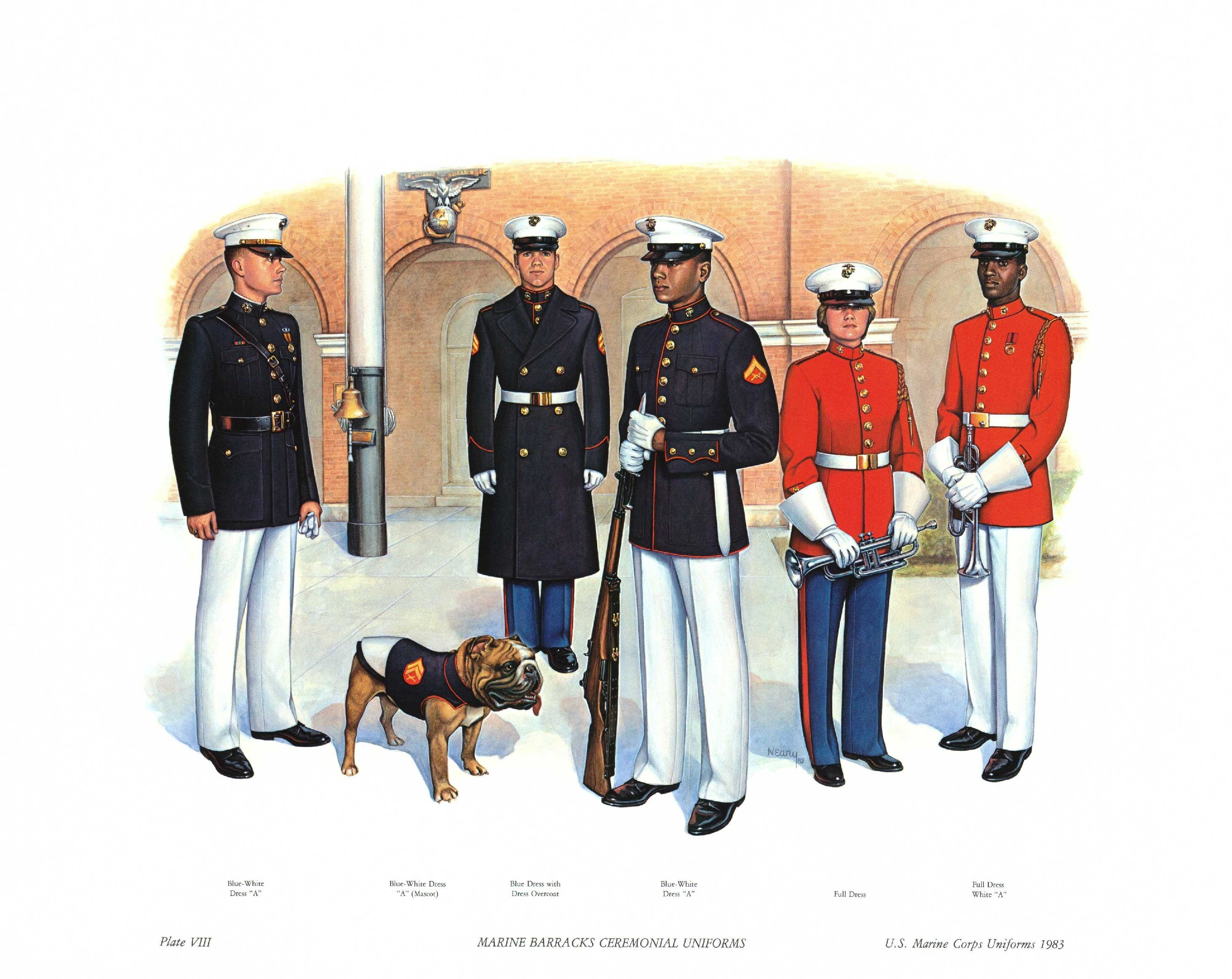 File:Plate VIII, Marine Barracks Ceremonial Uniforms - U S