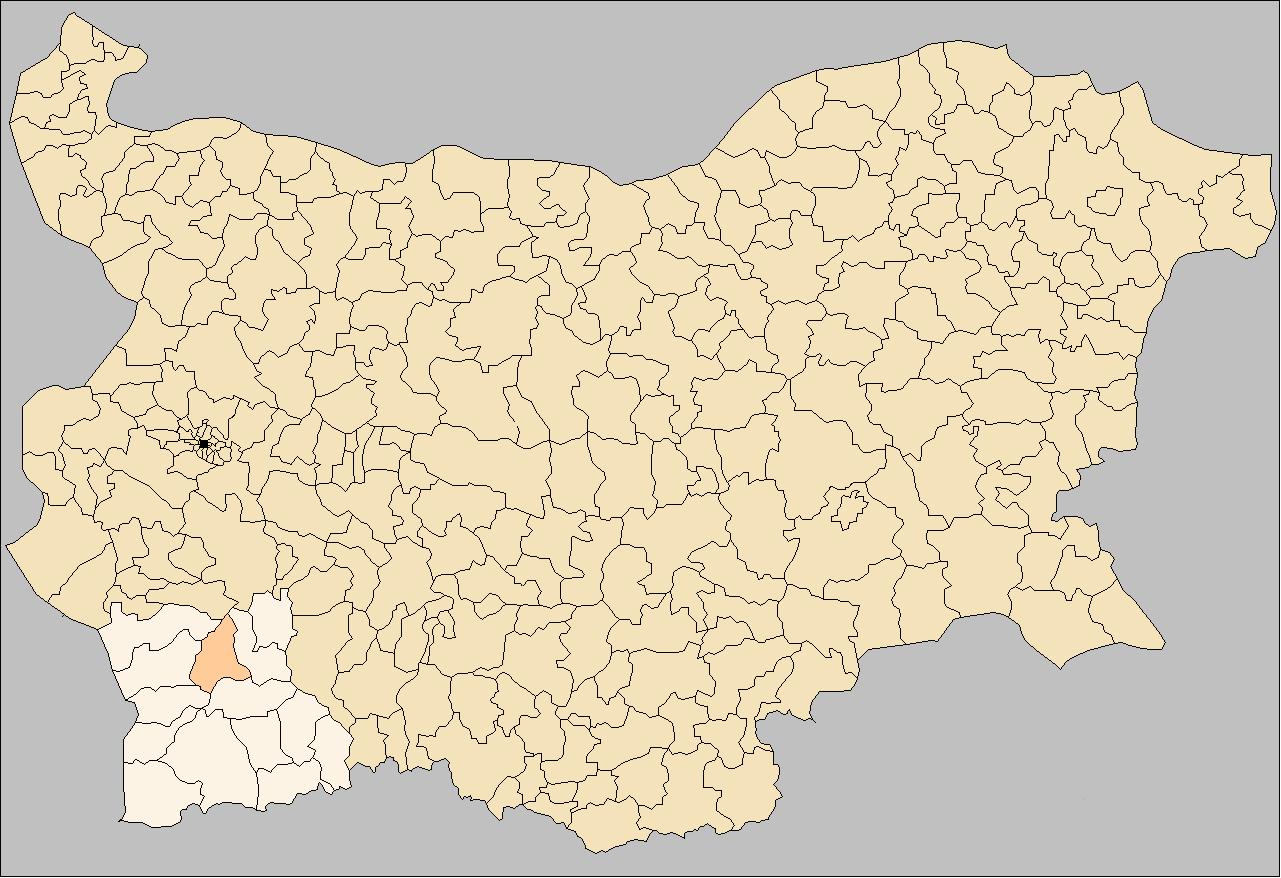 Razlog Bulgaria  city photo : Ficheiro:Razlog Municipality Bulgaria map – Wikipédia, a ...