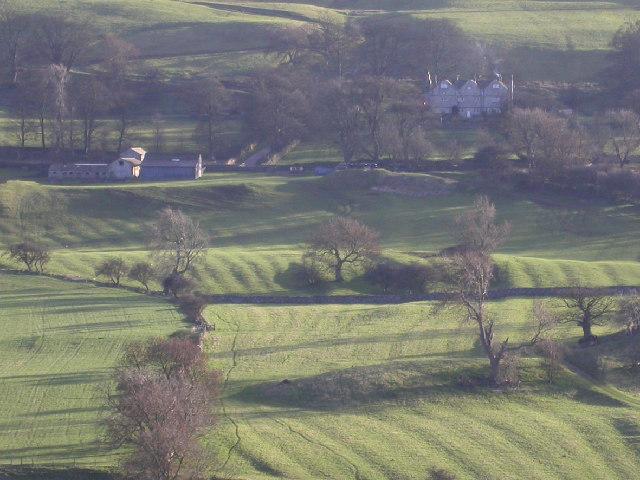 Ridge-and-furrow near Braithwaite Hall - geograph.org.uk - 94637