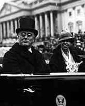 President and Mrs. Roosevelt on Inauguration Day, 1933