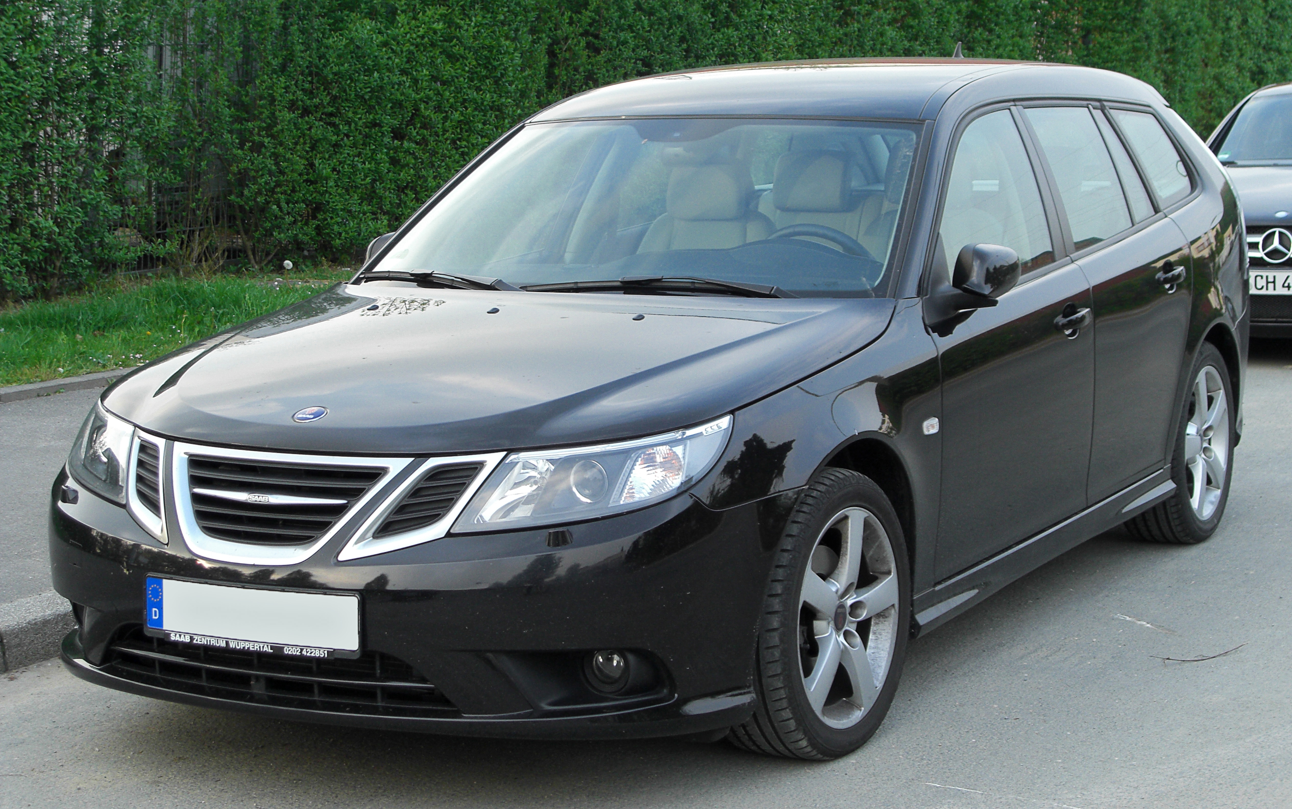 file saab 9 3 sportcombi ii 1 9 tid facelift front wikimedia commons. Black Bedroom Furniture Sets. Home Design Ideas