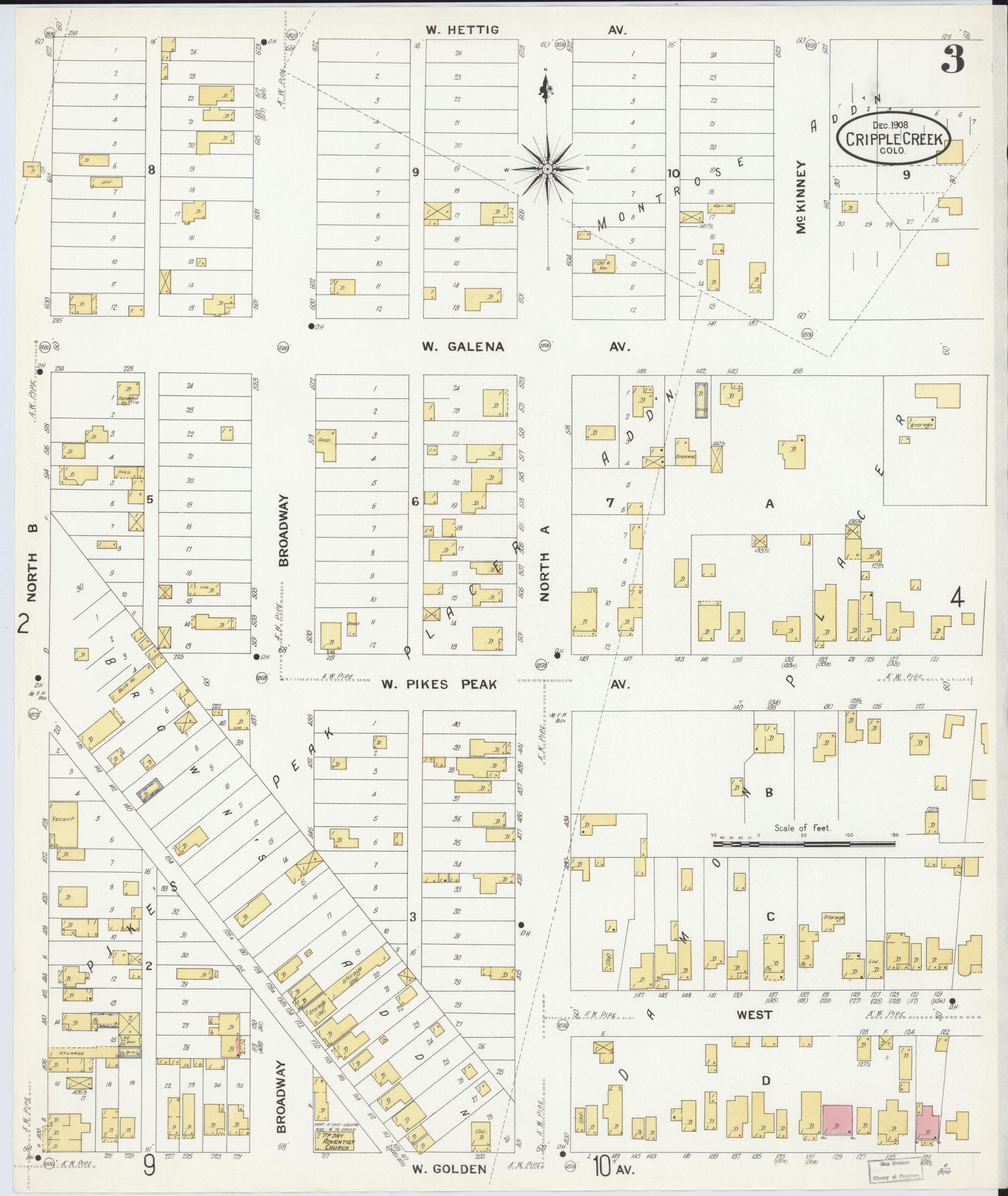 File Sanborn Fire Insurance Map From Cripple Creek Teller County