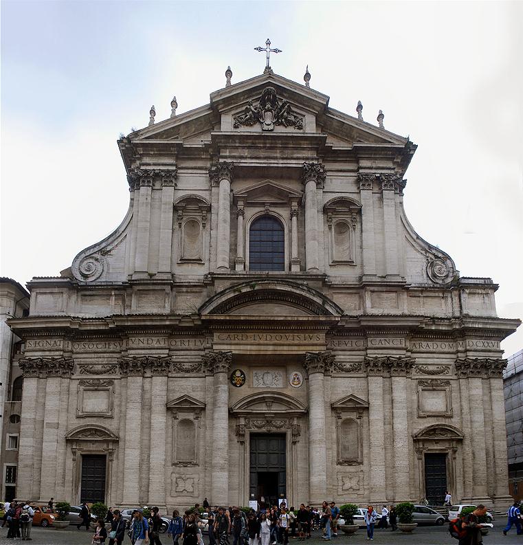 Façade de l'église Saint-Ignace-de-Loyola à Rome - Photo de Tetraktys