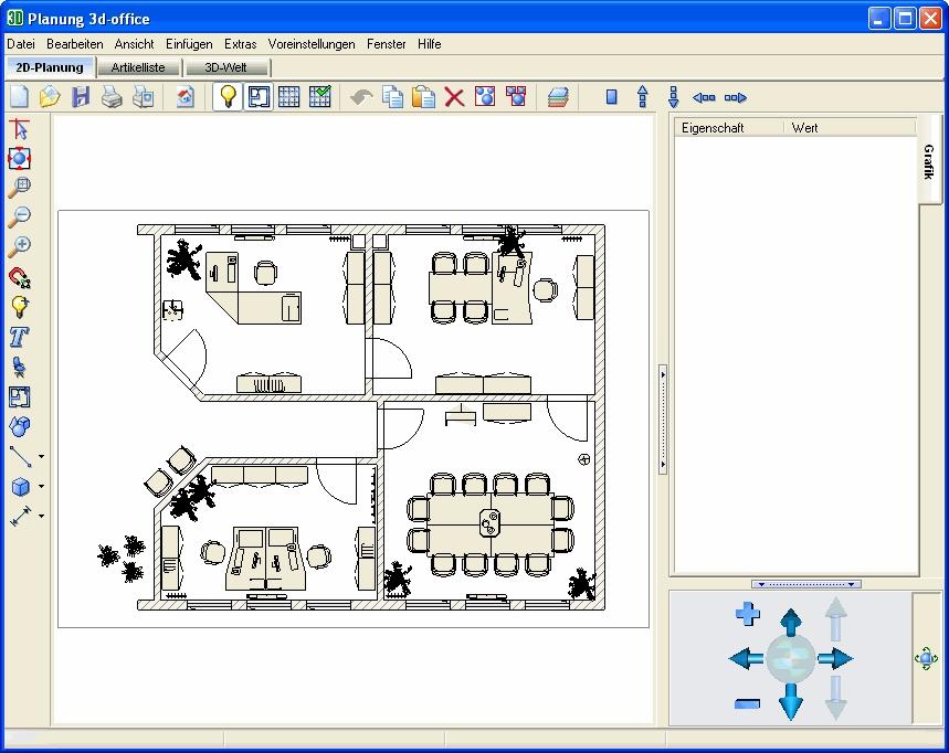 Description screenshot 2d planung
