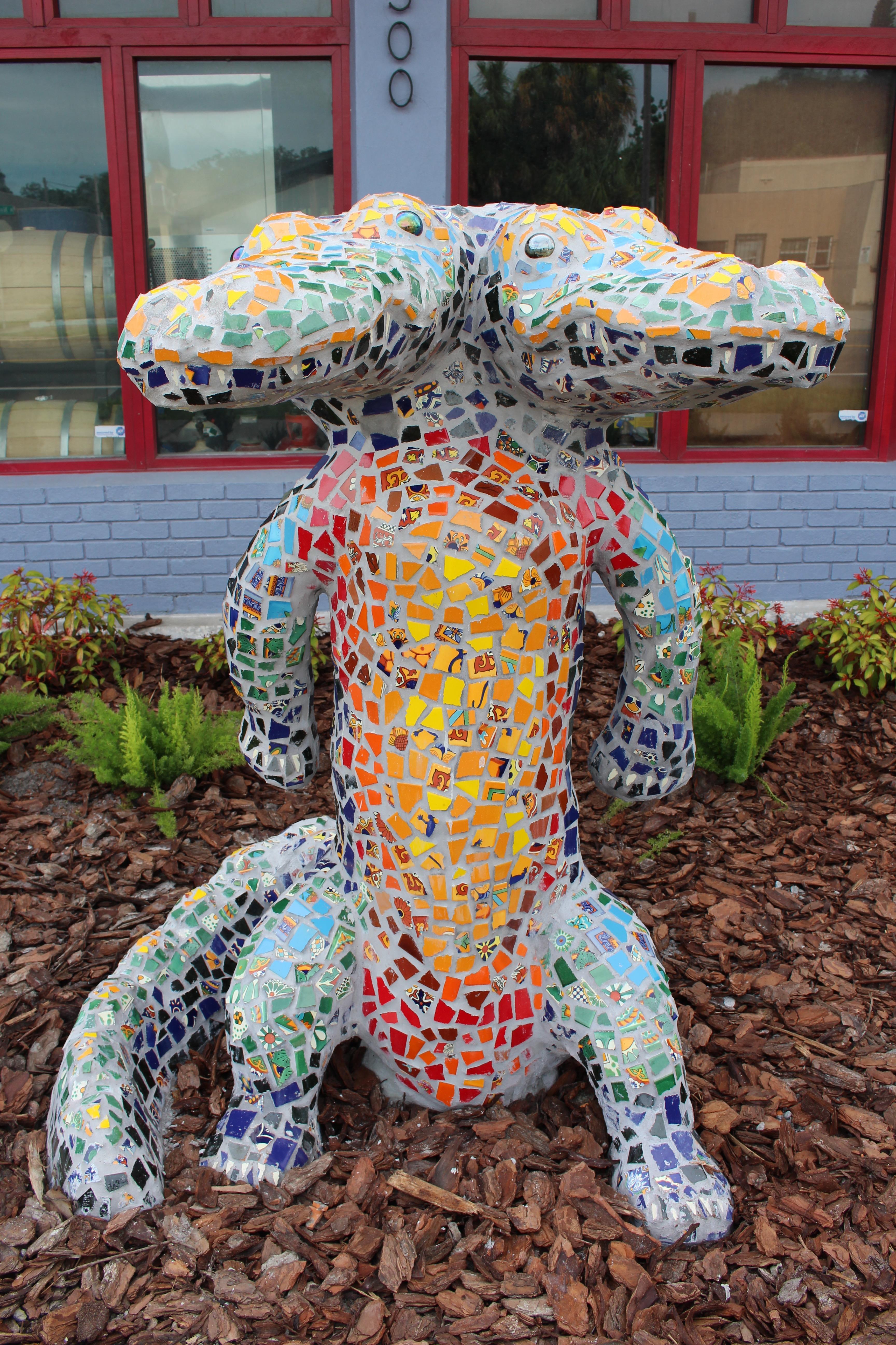 Seminole Heights Two Headed Alligator Statue