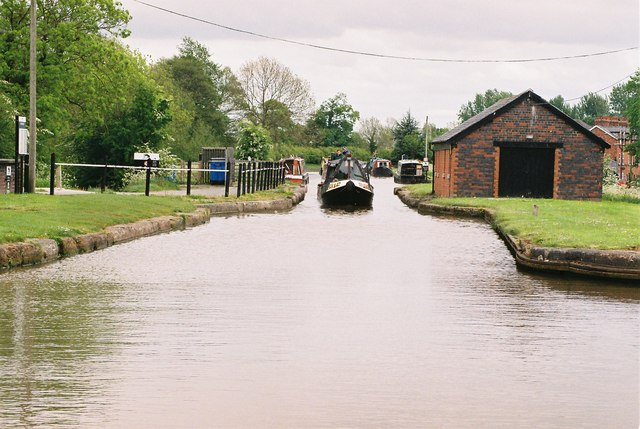 Shropshire union Canal at Barbridge - geograph.org.uk - 129563