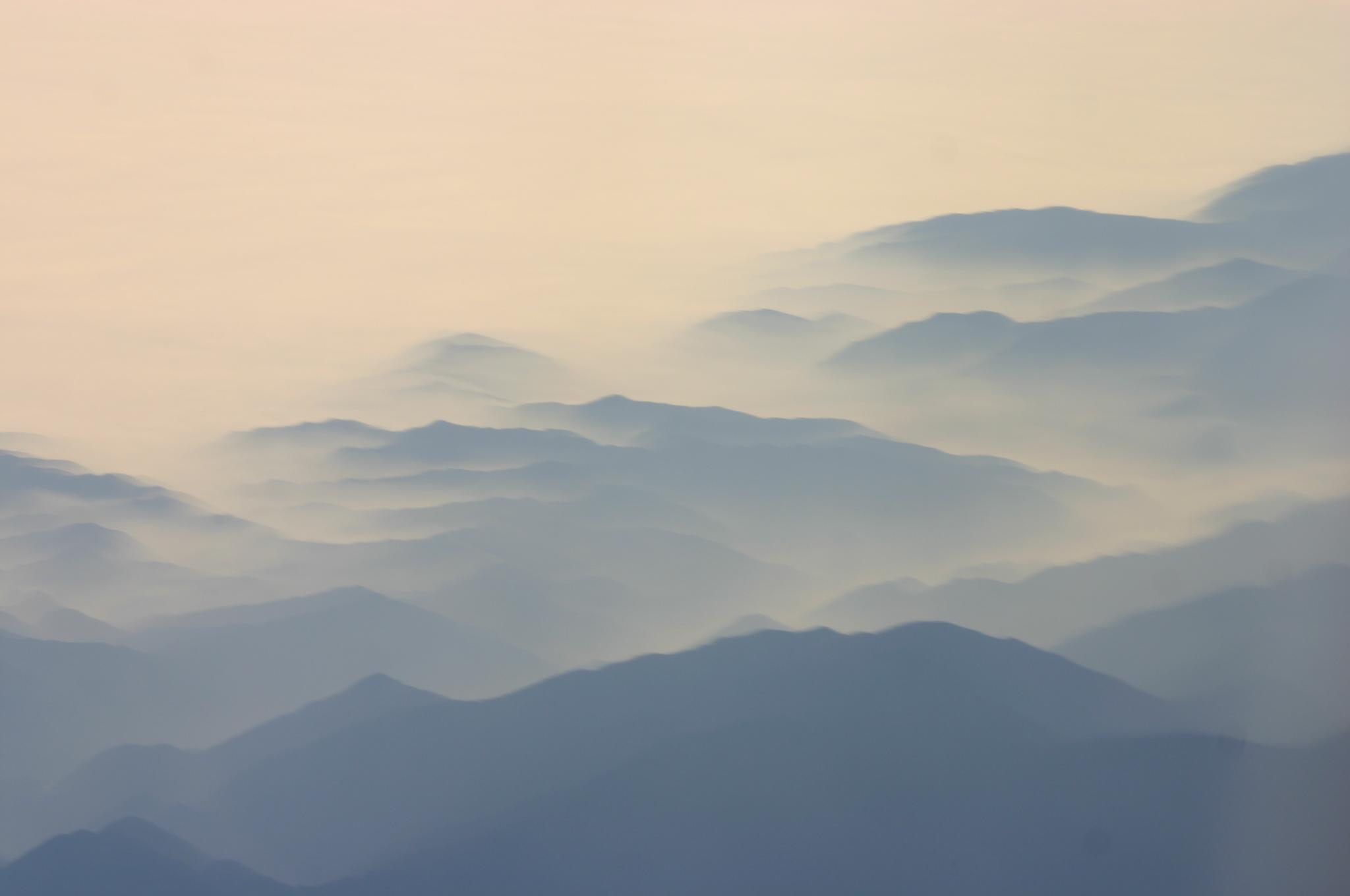 File:Southern California Coastal Range in Mist.jpg ...