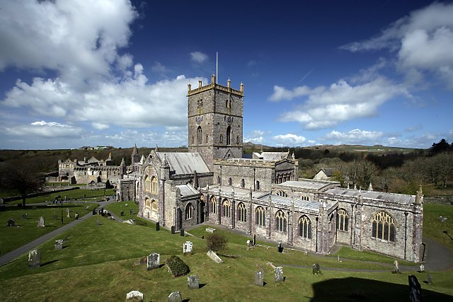 St David?s Cathedral, a site of worship since around 600 AD, is the centerpiece of the smallest city in the United Kingdom. Photo by Alan Thomas.