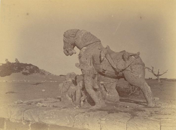 File:Statue of one of the two horses near the ashvadavara, Surya Temple or Black Pagoda, Konark - Orissa 1890.jpg
