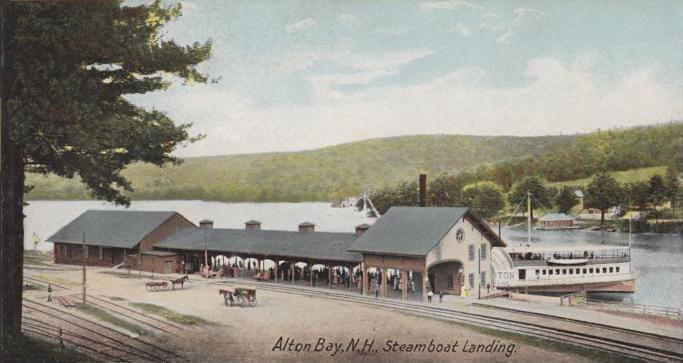 Alton Bay in olden days.