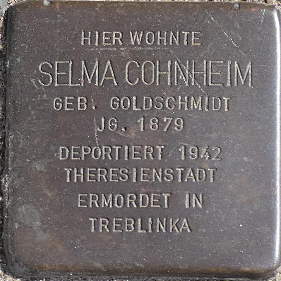 Stolperstein Selma Cohnheim