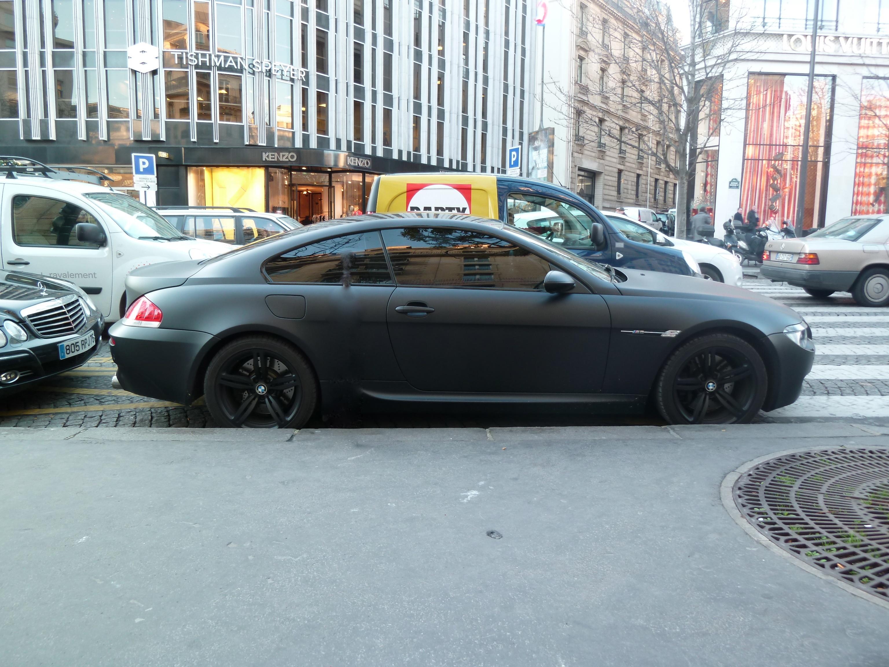 Matte Black BMW >> File Streetcarl Bmw M6 Matte Black 6517745705 Jpg