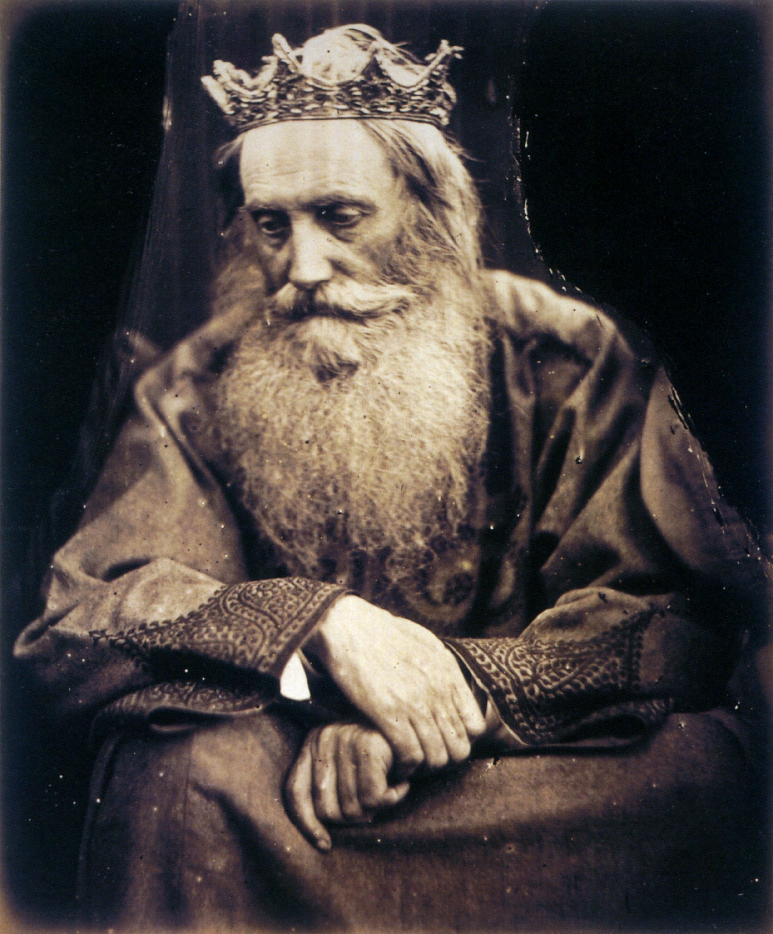 Study of King David (1866), uma das inúmeras ilustrações fotográficas de Julia Cameron.
