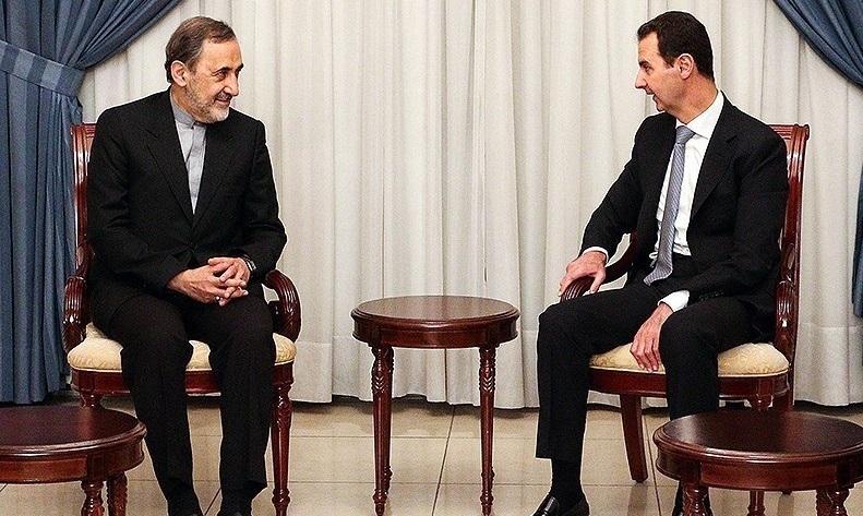 Senior Aide Ali Akbar Velayati meets with Syrian President Bashar al Assad