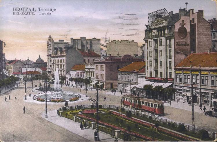 Terazije in Beograd, 1934 postcard