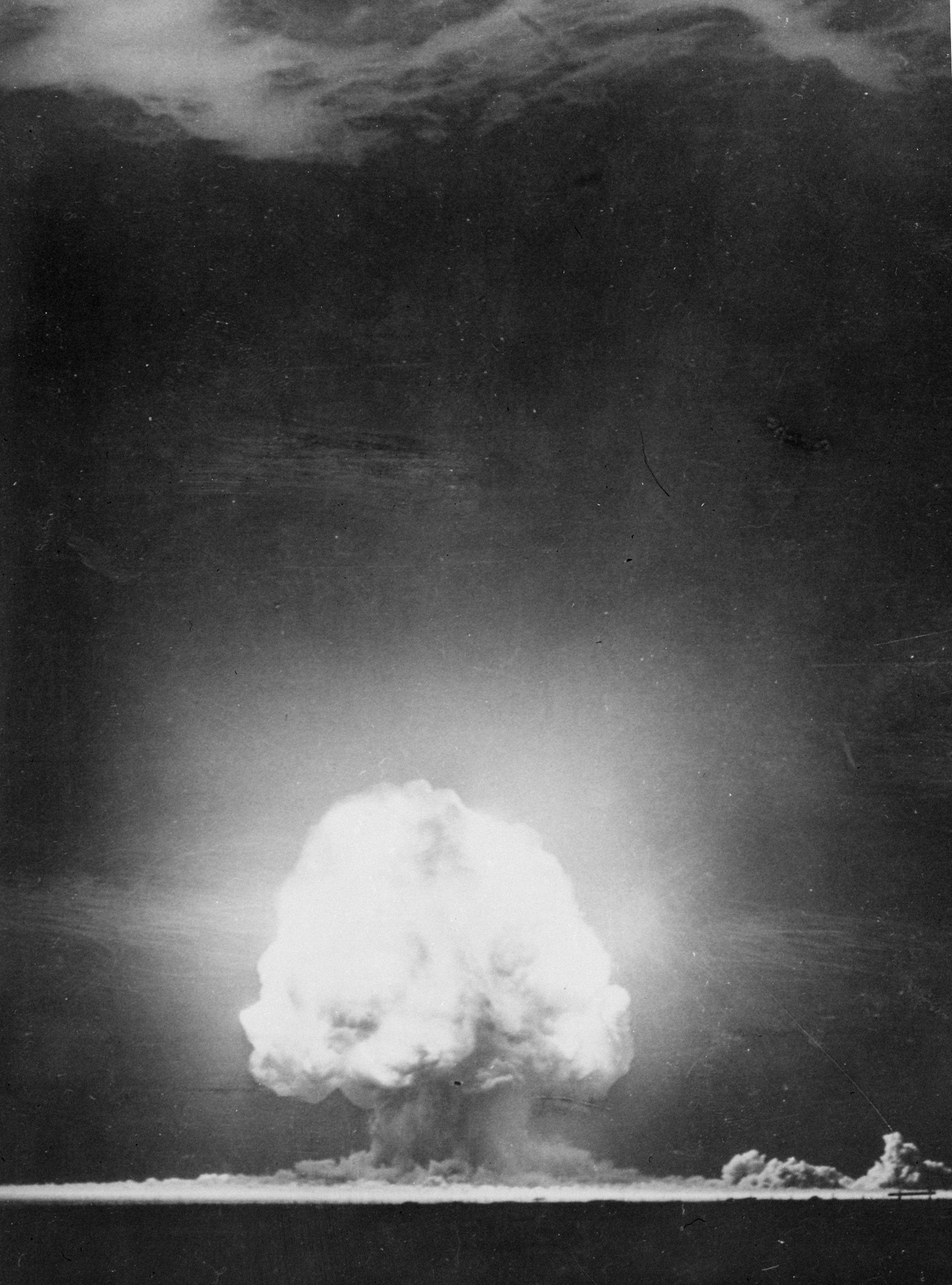 first atomic bomb The first was a demonstration of the atomic bomb prior to or instead of its military use: exploding the bomb on an uninhabited island or in the desert, in front of invited observers from japan and .